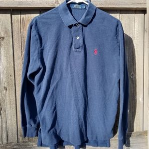 Polo by Ralph Lauren Long Sleeved Navy Polo Shirt